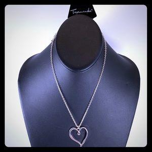 5/$25 Silver Heart short Necklace